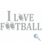 Sticker I Love Football, Decal I Love Football a
