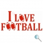 Autoaufkleber I Love Football, Aufkleber I Love Football r
