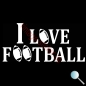 Autoaufkleber I Love Football, Aufkleber I Love Football w