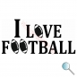 Autoaufkleber I Love Football, Aufkleber I Love Football