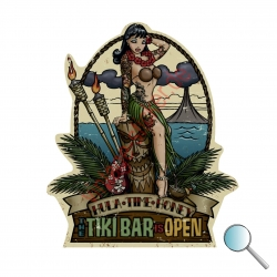 Autoaufkleber Pin Up Tiki, Aufkleber Pin Up Tiki