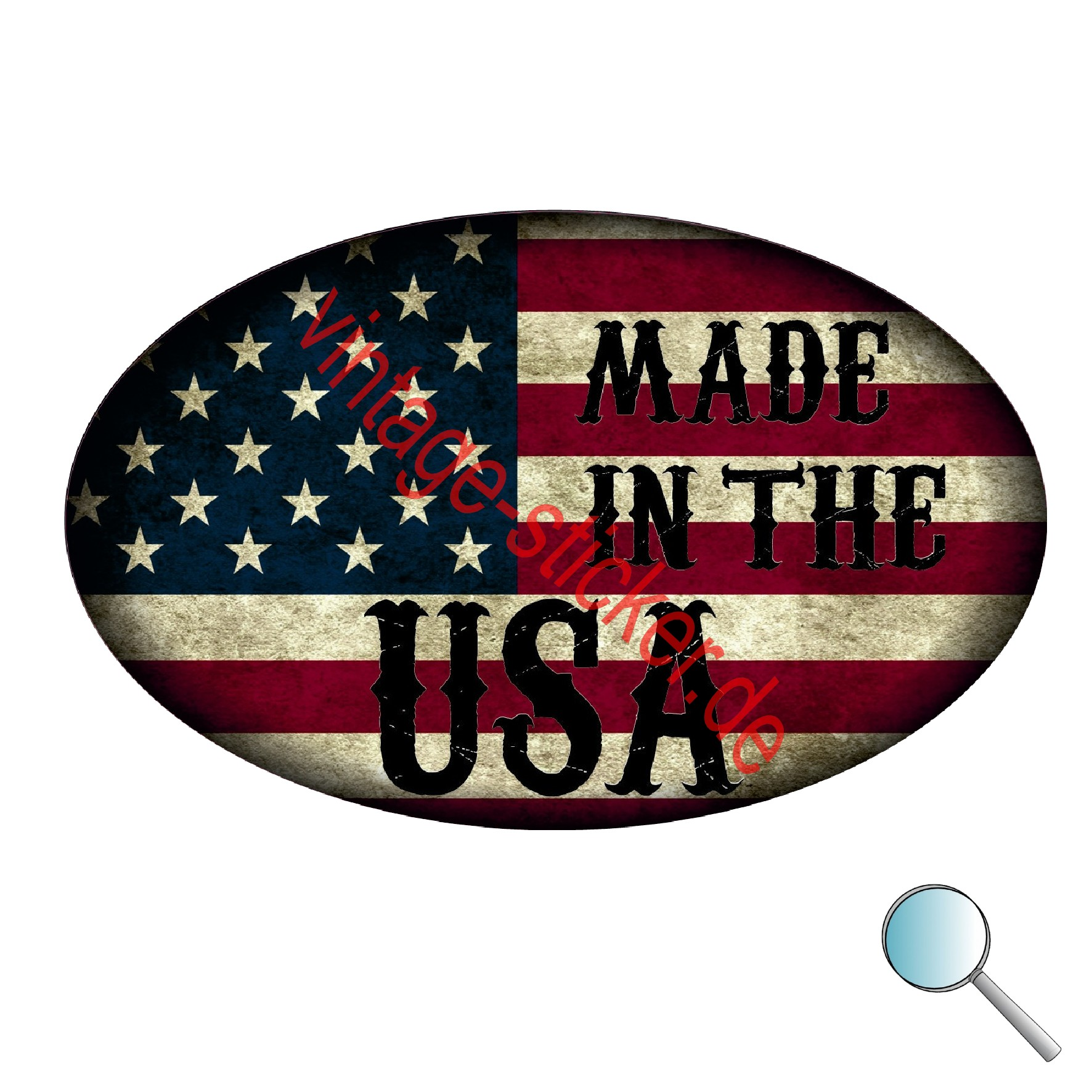 Aufkleber Made In The Usa