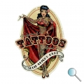 Autoaufkleber Pin Up Tatoo, Aufkleber Pin Up Tatoo