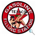 Autoaufkleber Texaco Pin Up, Aufkleber Texaco Pin Up