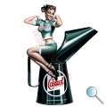 Autoaufkleber Castrol Pin Up, Aufkleber Castrol Pin Up