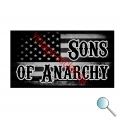 Autoaufkleber, Aufkleber Flagge USA Sons of Anarchy