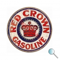 Autoaufkleber Red Crown Gasoline, Aufkleber Red Crown Gasoline